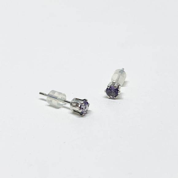 Amethyst Birthstone Earrings - February Birthstone