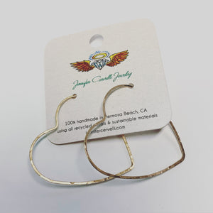 Medium Heart Hoops 1.5""