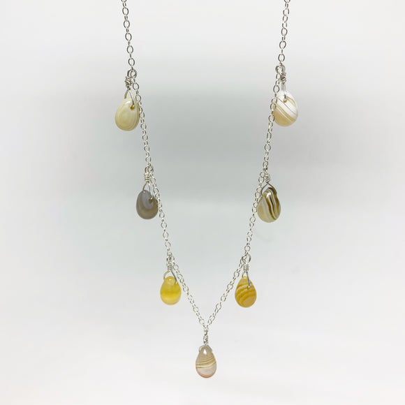 Botswana Agate Teardrop Necklace