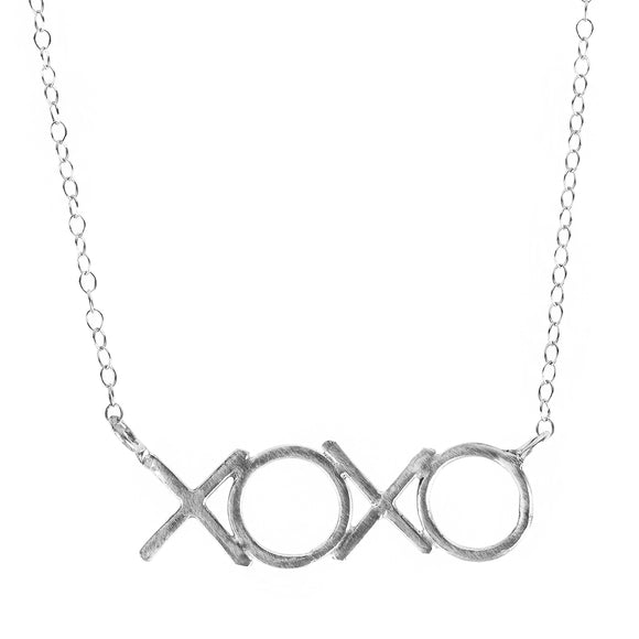XOXO Initials Necklace - Hugs and Kisses Charm Necklace
