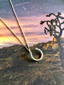 Hanging Lucky Horseshoe Charm Necklace