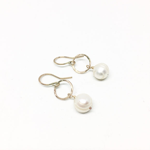 8mm White Freshwater Pearl Drops