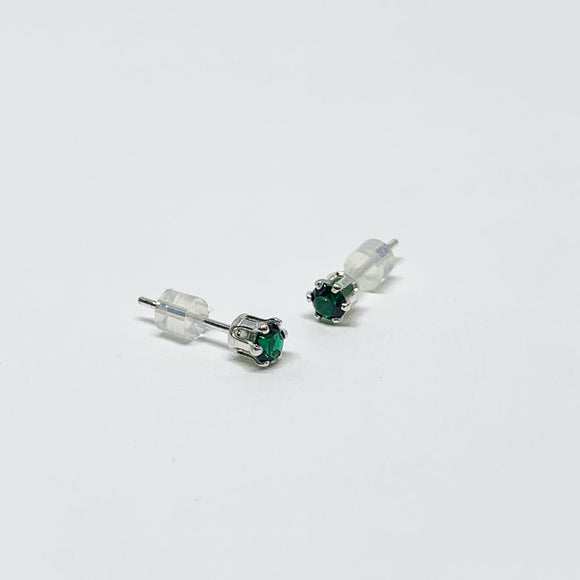 Emerald Birthstone Earrings - May Birthstone