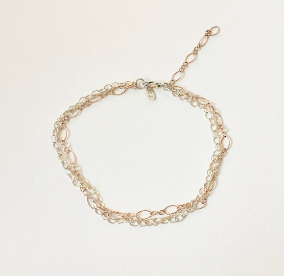 Sunshine Mixed Chain Ankle Bracelet