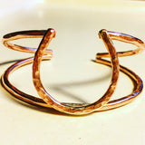 Lucky Horseshoe Double Cuff Bracelet