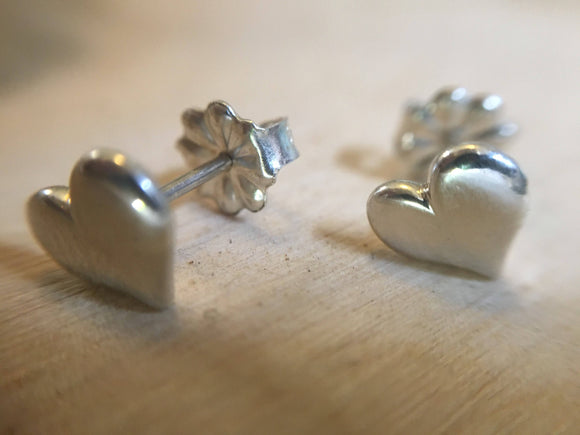 Tiny Heart Stud Earrings - Heart Posts