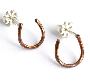 Lucky Horseshoe Stud Earrings