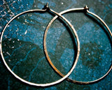 XL Crescent Moon Rustic Hoops - Extra Large Hoops