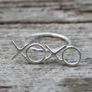 Xoxo Initials Ring - Hugs and Kisses Ring