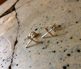 Cross Post Stud Earrings