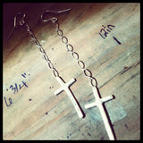 Cross Dangle Earrings