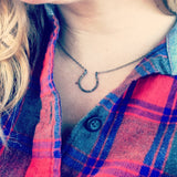 Lucky Horseshoe Charm Necklace