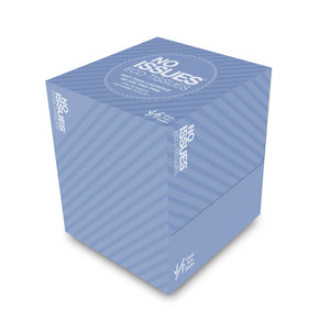Eco-Tissues Cube - Blue on Blue Stripe