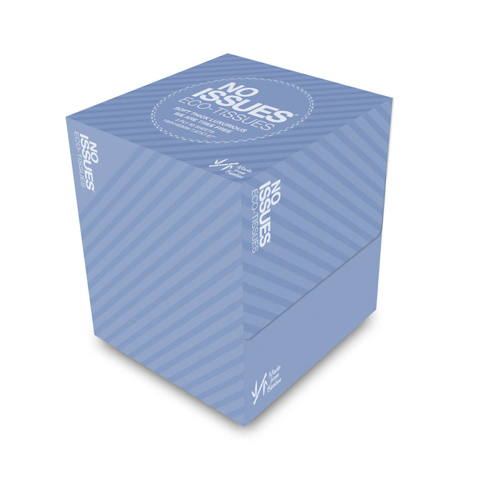 Cube Box Tissues - Blue on Blue
