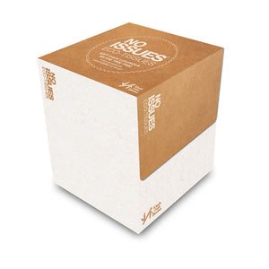 Cube Box Tissues - White on Brown