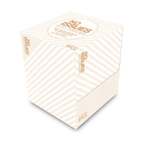 Cube Box Tissues - White on White