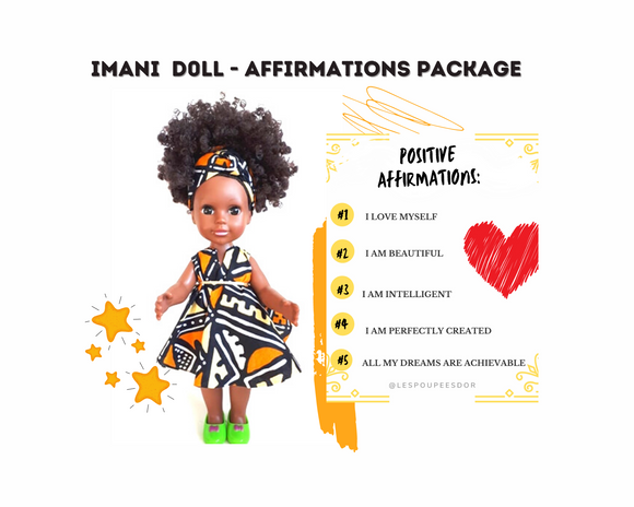 Imani Doll ❤️ Affirmations Package