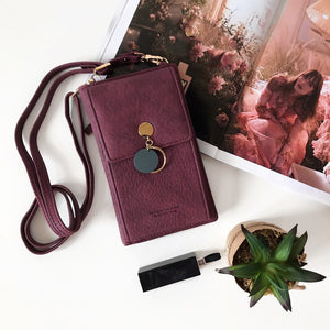 Casual Leather Shoulder Wallet