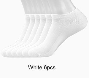 Men's Cotton Ankle Socks 6 Pairs