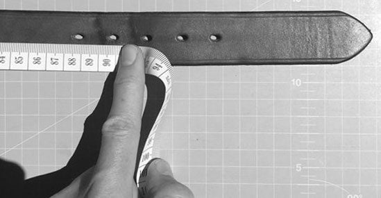 Belt & Band Measuring Guide for Belts