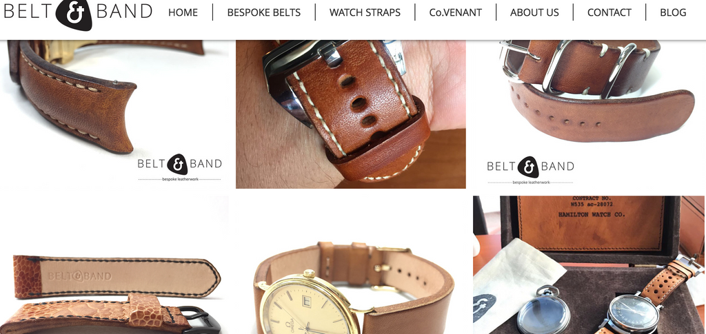 Tan Leather Watch Straps