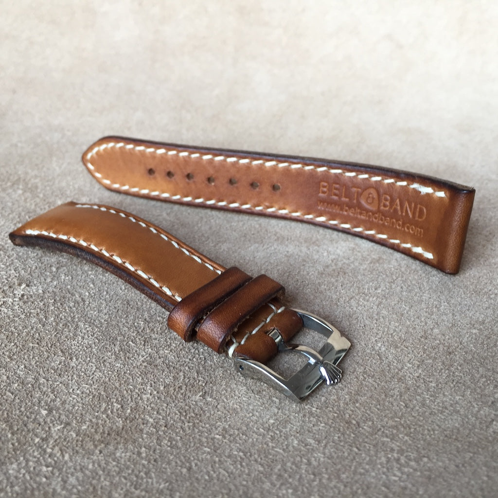 Tan Padded Calf Strap for Rolex Air King