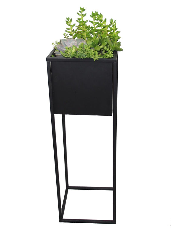 Industrial Style Metal Planter Box, Square - Cocoyard Garden Supply