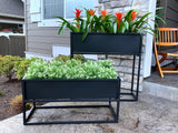 Industrial Style Metal Planter Box, Low - Cocoyard Garden Supply
