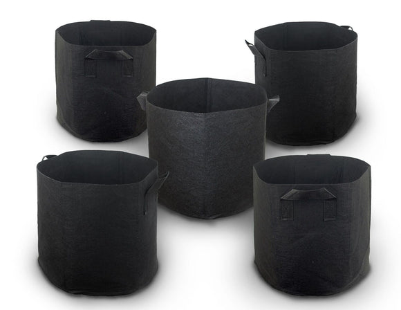 Cocoyard 5-Pack 15 Gallon 280G Nonwoven Aeration Plant Fabric Pots with Handles - Cocoyard Garden Supply