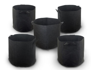 Cocoyard 5-Pack 7 Gallon 280G Nonwoven Aeration Plant Fabric Pots with Handles - Cocoyard Garden Supply