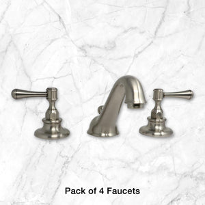 Pack of 4 Kent Lavatory Faucets in Satin Nickel