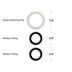 Plastic Retaining Clip and 2 O-Rings for Faucet