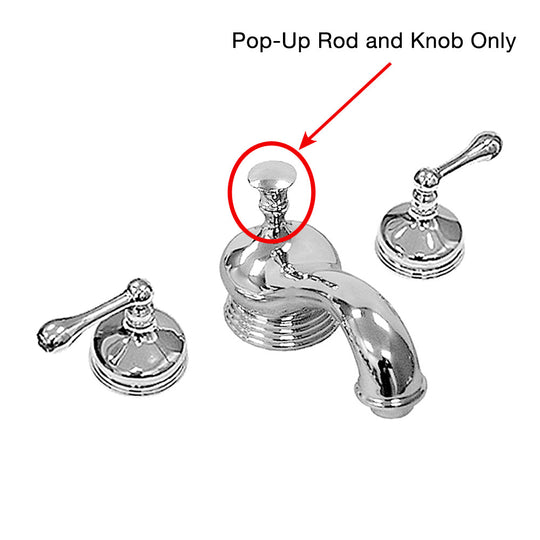 Pop-up Rod and Knob for Sigma 600 Series Lavatory Faucet with Worchester Handle