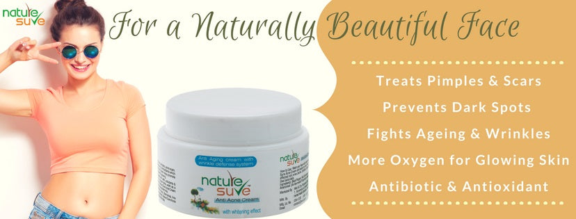 Nature Sure Anti-Acne Cream also helps treat fine lines and signs of ageing