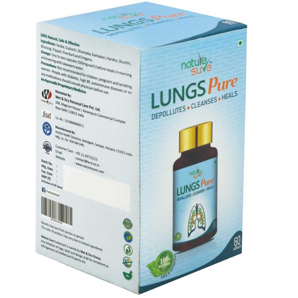 Nature Sure Lungs Pure Capsules for Protection Against Pollution, Smoke & Respiratory Health Problems
