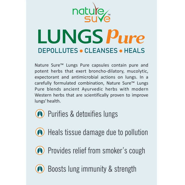 Nature Sure Lungs Pure protects you from harmful effects of pollution & other toxins