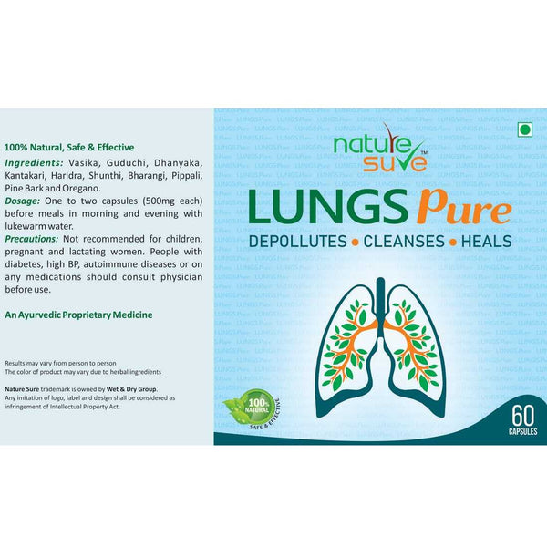 Nature Sure Lungs Pure is made from pure and natural ingredients