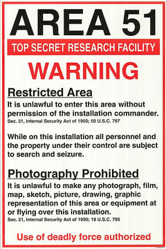 Area 51 Warning