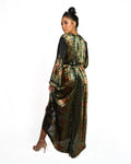 'Burnout Velvet' Kaftan Dress