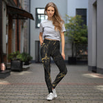 Black Marble Yoga Leggings