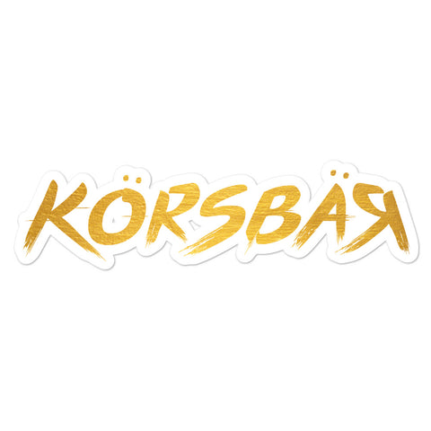 Golden Korsbar Sticker