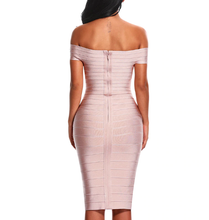 Load image into Gallery viewer, Off Shoulder Bodycon