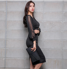 Load image into Gallery viewer, Black Chiffon Dress