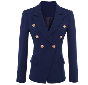 Dark Blue Double Breasted Blazer
