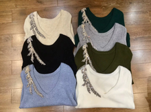 Load image into Gallery viewer, Jewel Beaded Cashmere Sweater