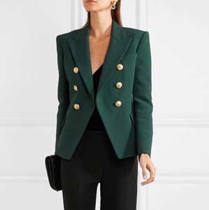 Green Double Breasted Blazer