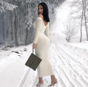 Alicia Ribbed Winter dress