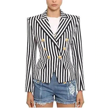 Load image into Gallery viewer, Striped Print Blazer Jacket