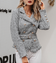 Load image into Gallery viewer, Tweed Plaid Jacket