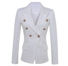 Load image into Gallery viewer, White Double Breasted High Quality Blazers